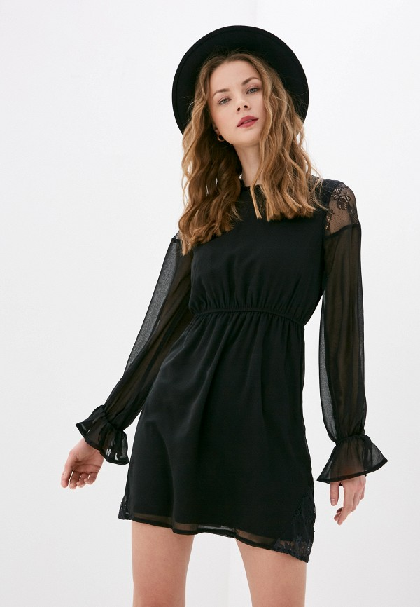 женское повседневные платье missguided, черное