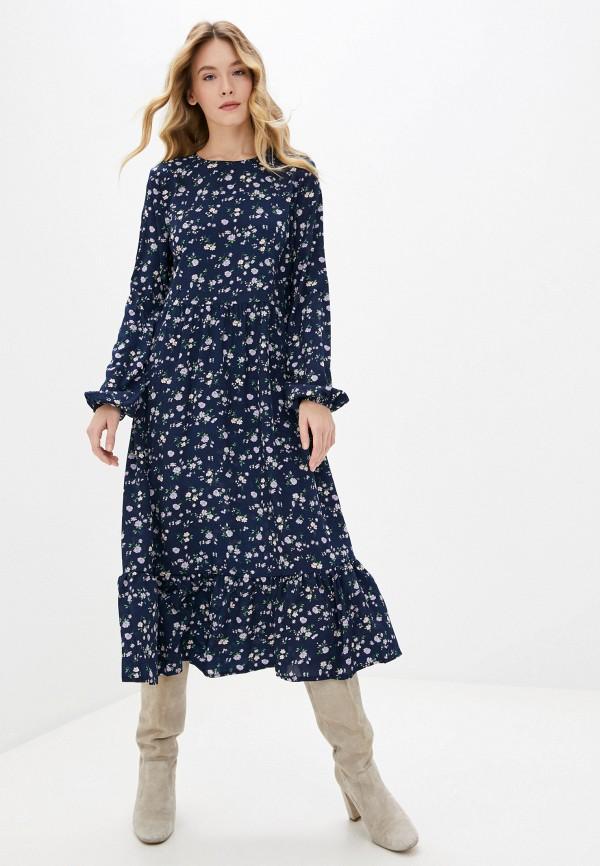 женское повседневные платье missguided, синее