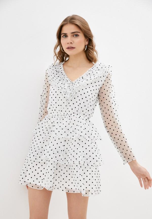 женское вечерние платье missguided, белое