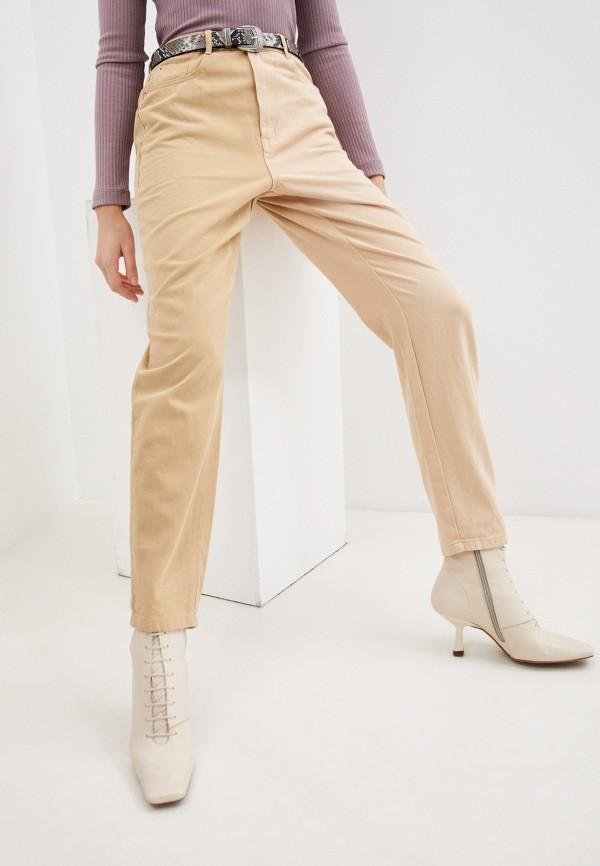 женские повседневные брюки missguided, бежевые