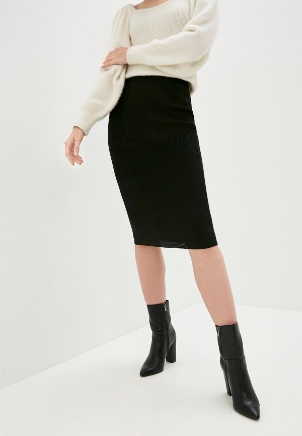 женская зауженные юбка missguided, черная