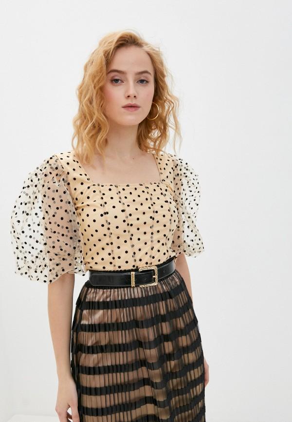 женская блузка missguided, бежевая