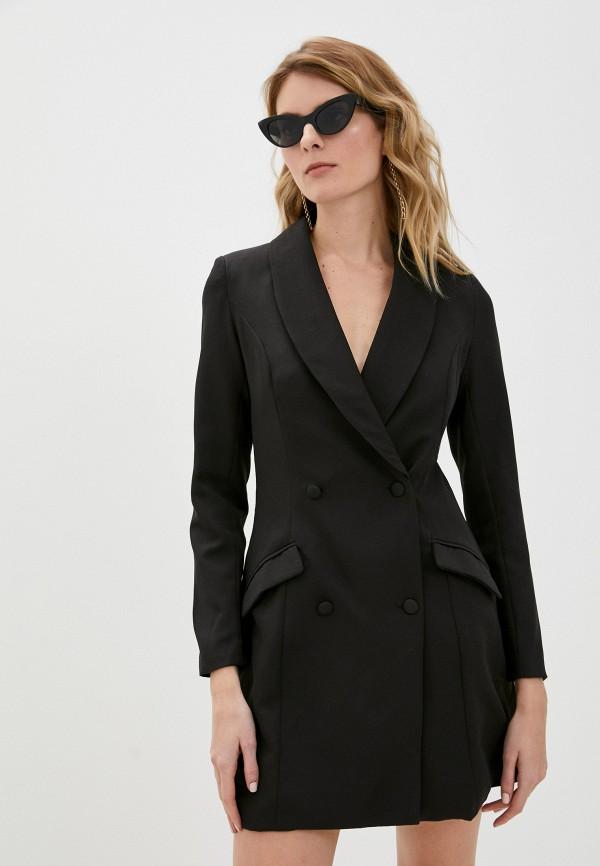 женский пиджак missguided, черный