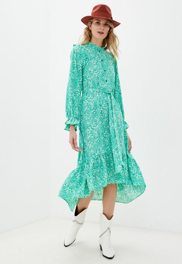 женское повседневные платье missguided, зеленое