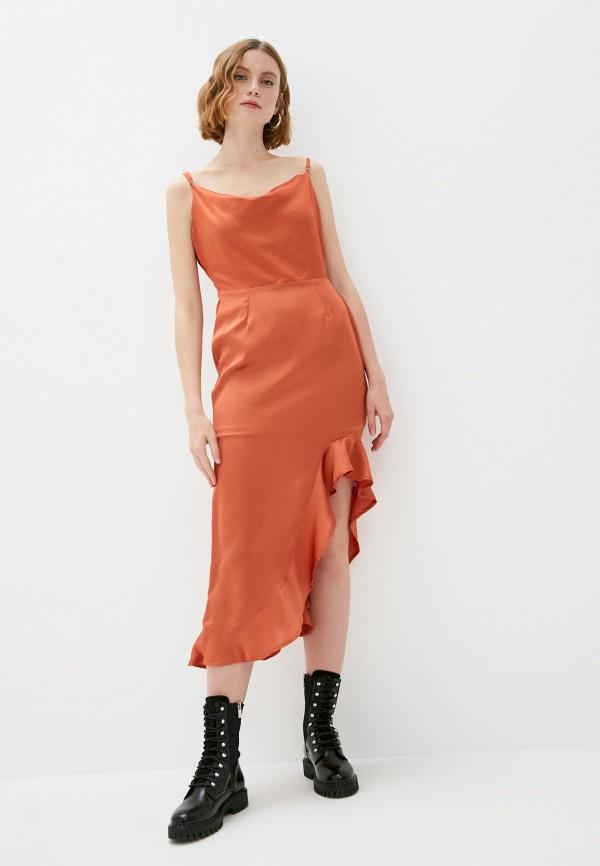 женское платье missguided, коричневое