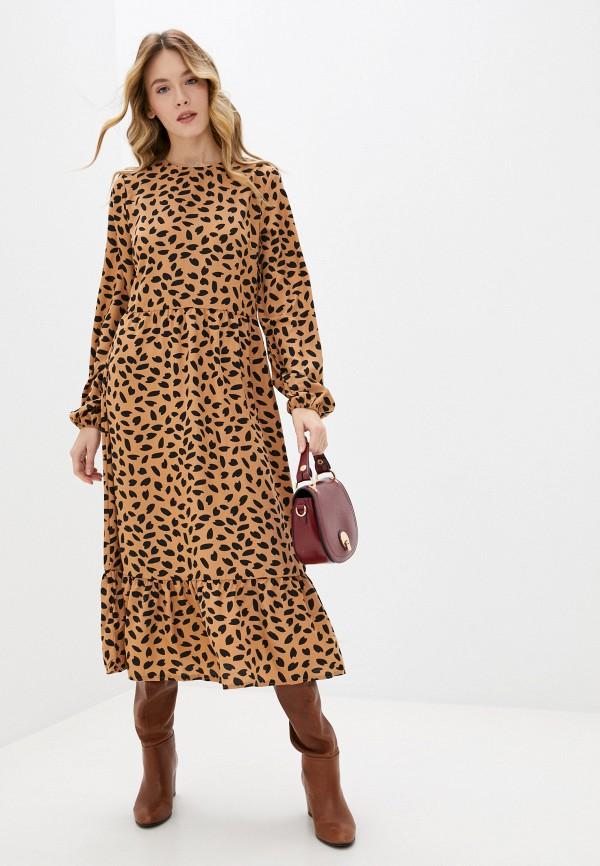 женское повседневные платье missguided, коричневое