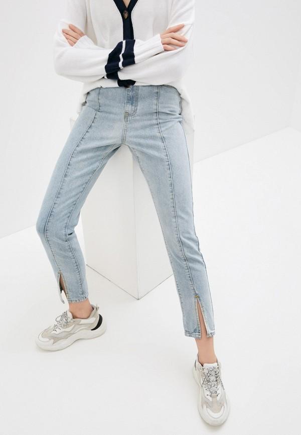 женские джинсы бойфренд missguided, голубые