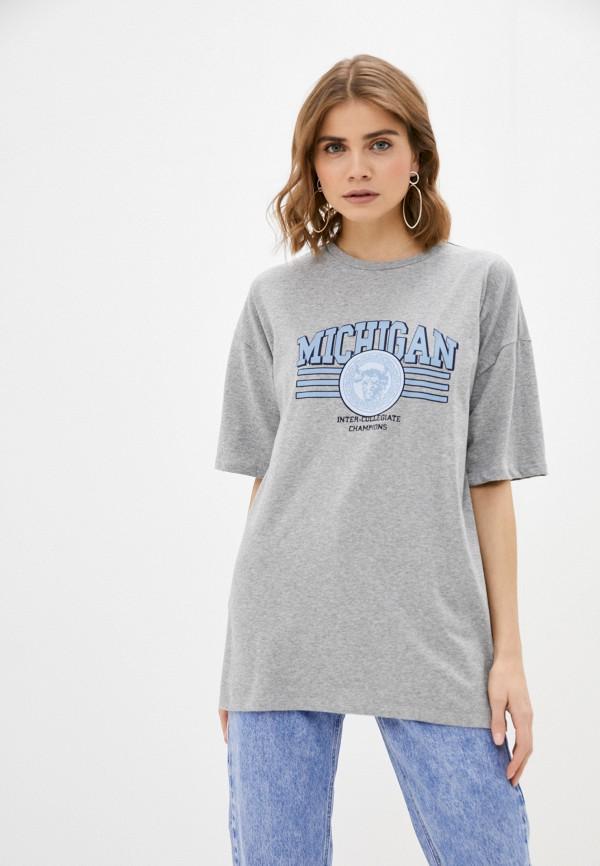 женская футболка missguided, серая