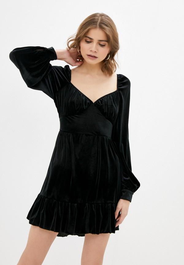 женское вечерние платье missguided, черное