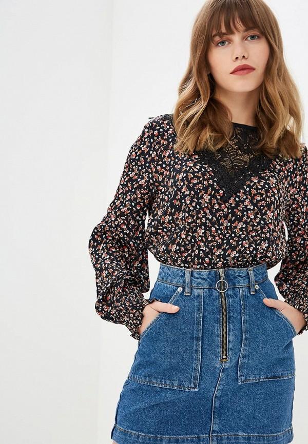 Купить Блуза Miss Selfridge, mi035ewdaxf3, черный, Осень-зима 2018/2019