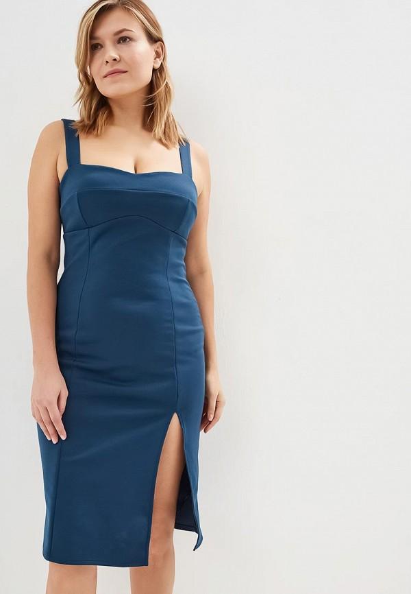 женское платье-футляр miss selfridge, синее