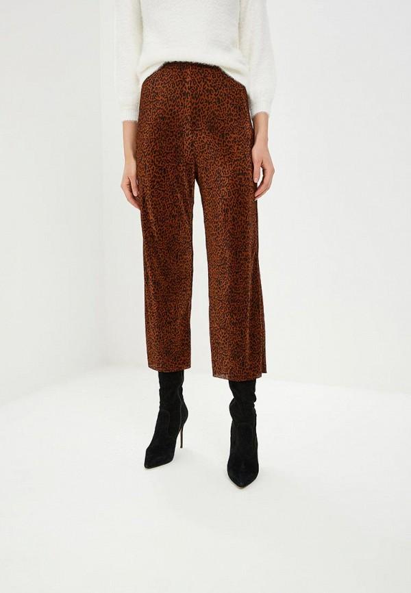 женские повседневные брюки miss selfridge, коричневые