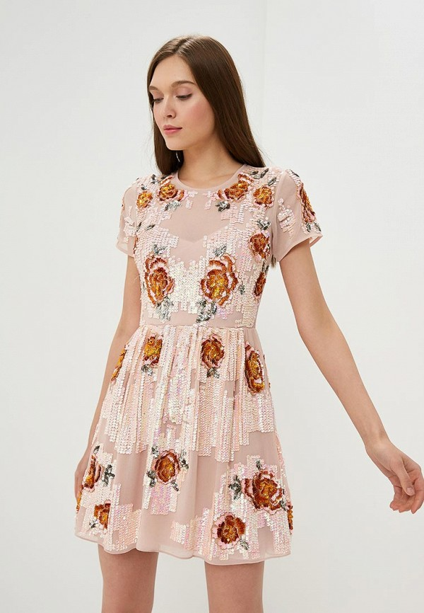 женское вечерние платье miss selfridge, розовое