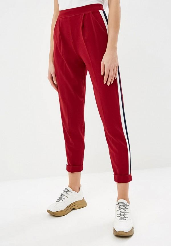 женские повседневные брюки miss selfridge, бордовые