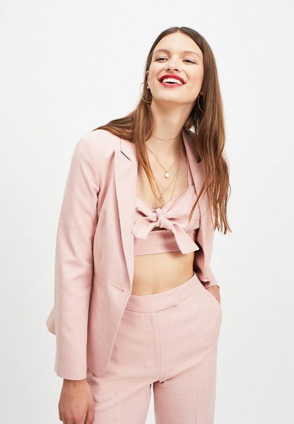 женский пиджак miss selfridge, розовый