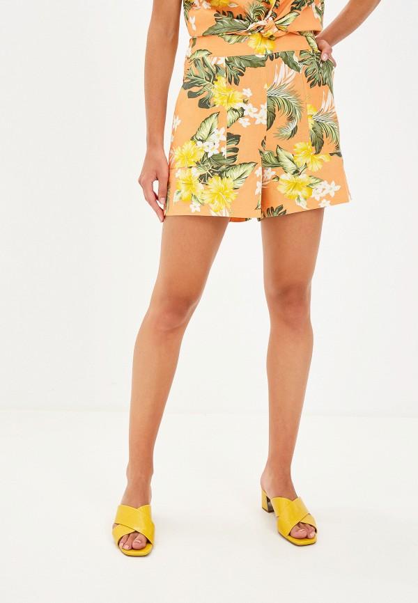 женские повседневные шорты miss selfridge, оранжевые