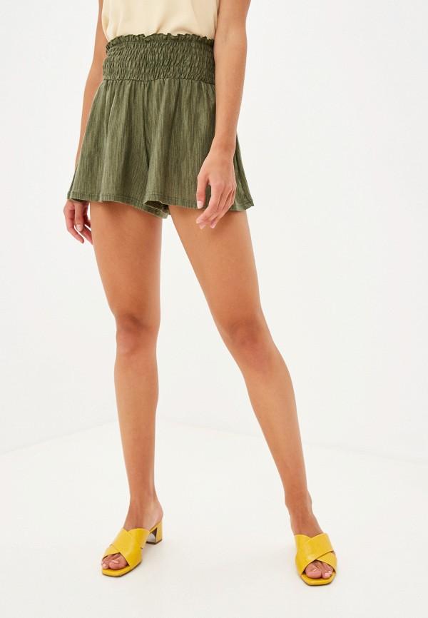 женские повседневные шорты miss selfridge, хаки