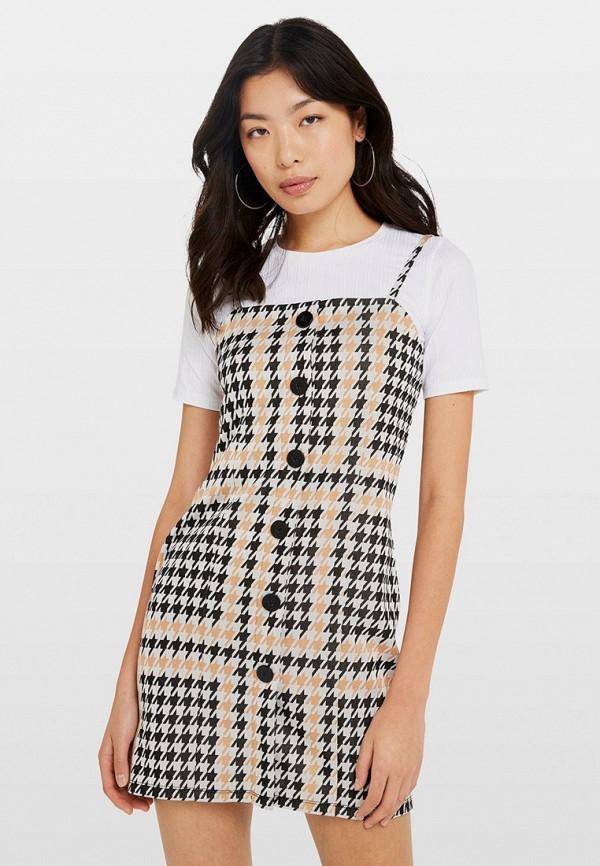 женское платье miss selfridge, бежевое
