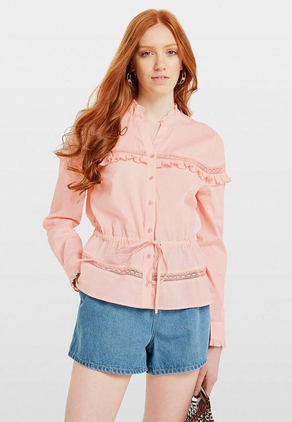 женская блузка miss selfridge, розовая