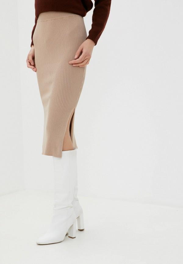 женская зауженные юбка miss selfridge, бежевая