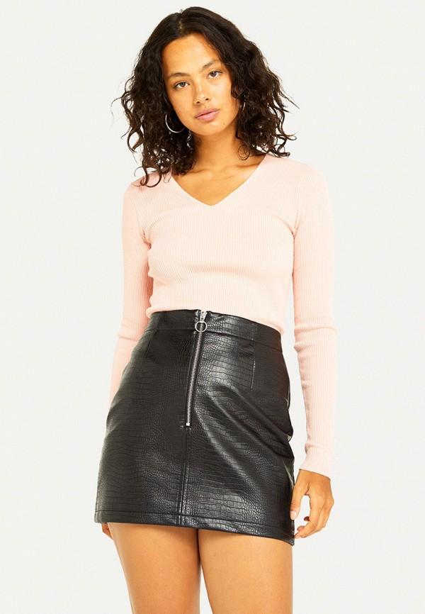 женский пуловер miss selfridge, розовый
