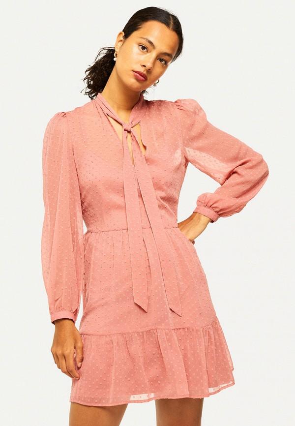 женское повседневные платье miss selfridge, розовое