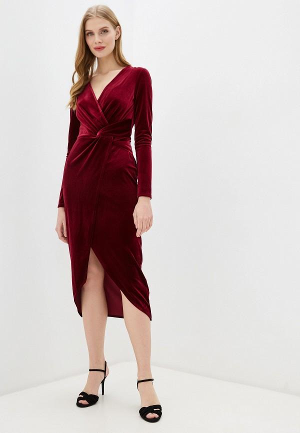 женское вечерние платье miss selfridge, бордовое