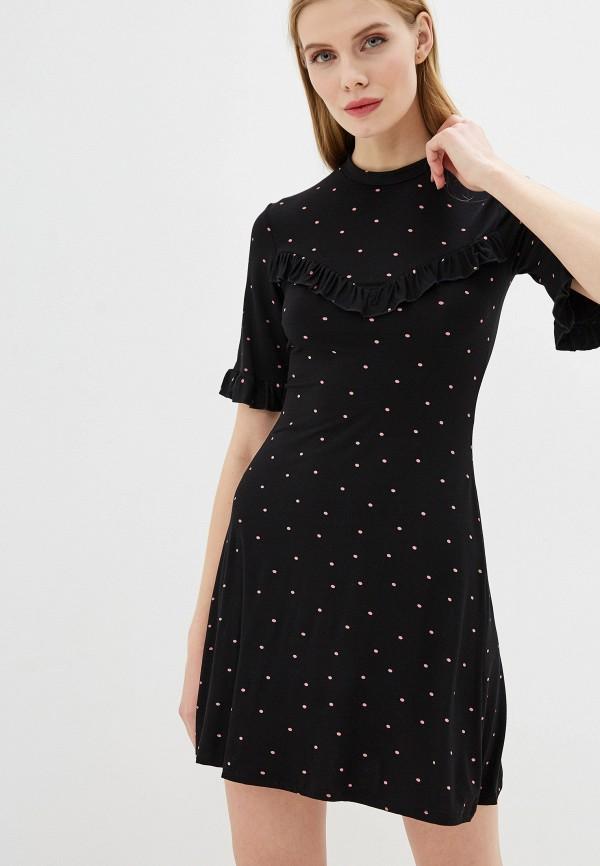 женское повседневные платье miss selfridge, черное