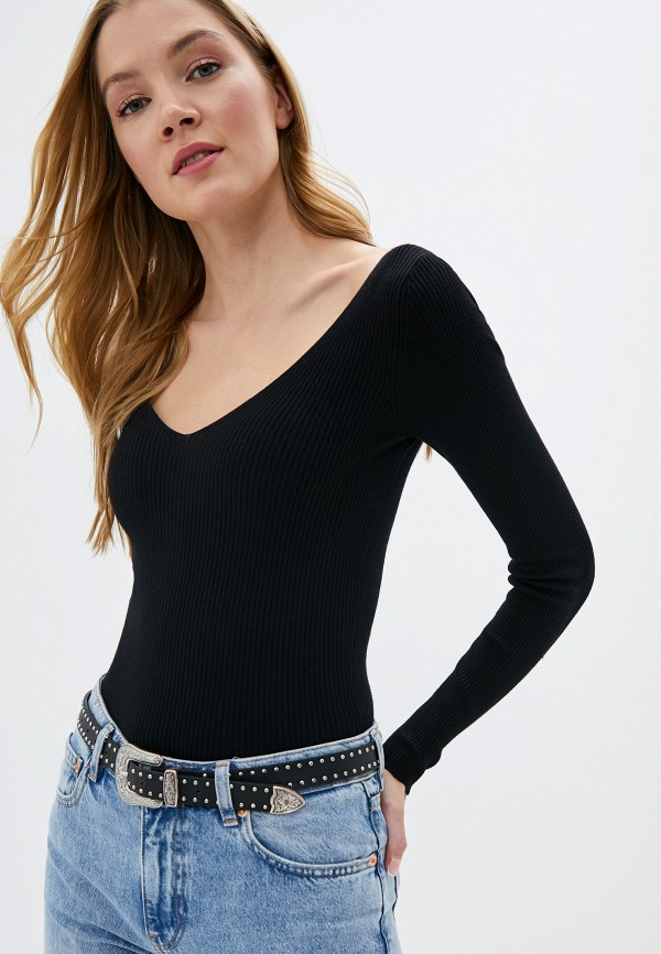 женский пуловер miss selfridge, черный
