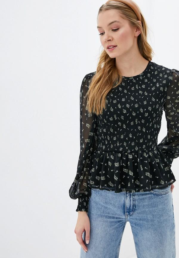 женская блузка miss selfridge, черная