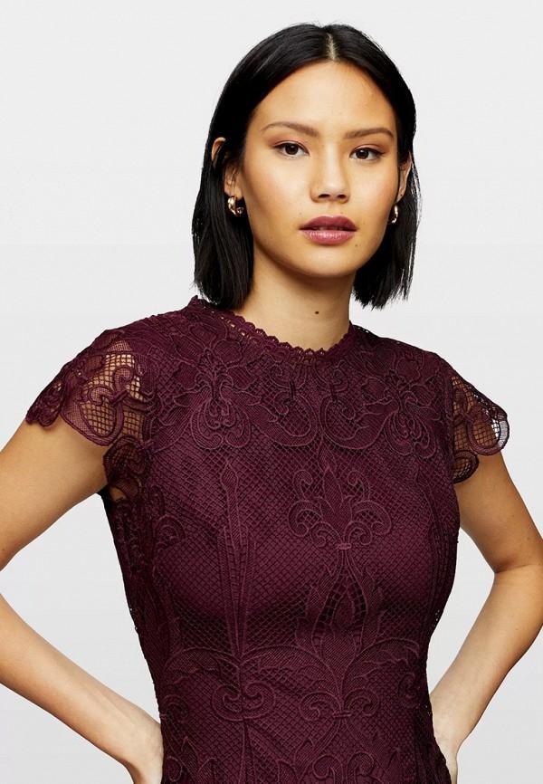 женское платье-футляр miss selfridge, фиолетовое