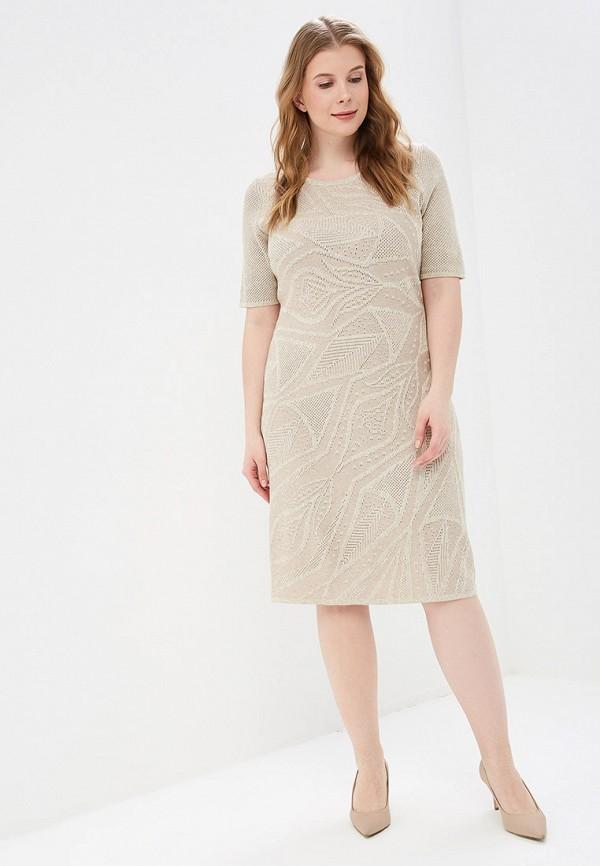 женское платье milana style, бежевое