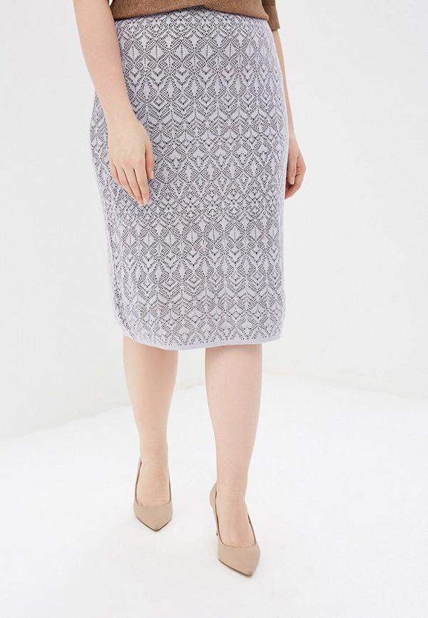 женская прямые юбка milana style, фиолетовая