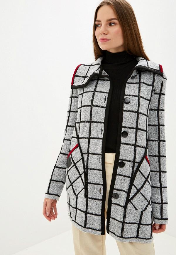 женский кардиган milana style, серый