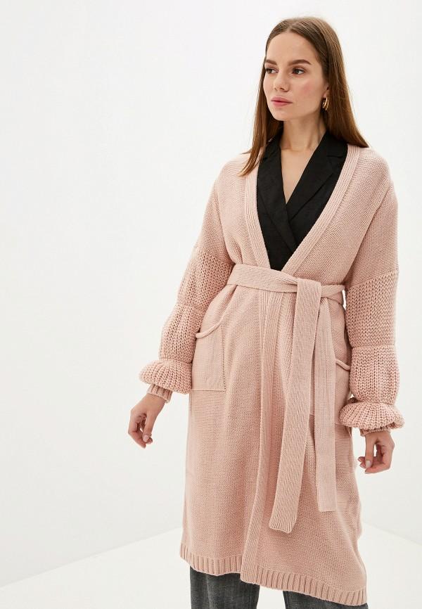 женский кардиган milana style, розовый