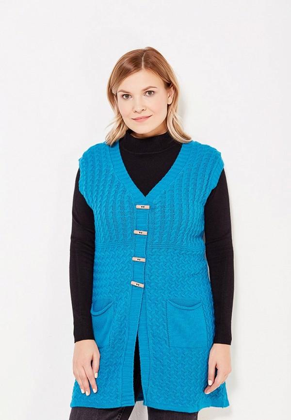 женский жилет milana style, синий