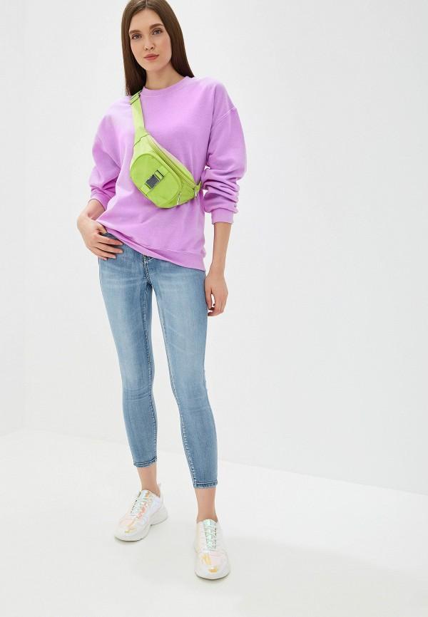 Фото 2 - женские джинсы Miss Bon Bon голубого цвета