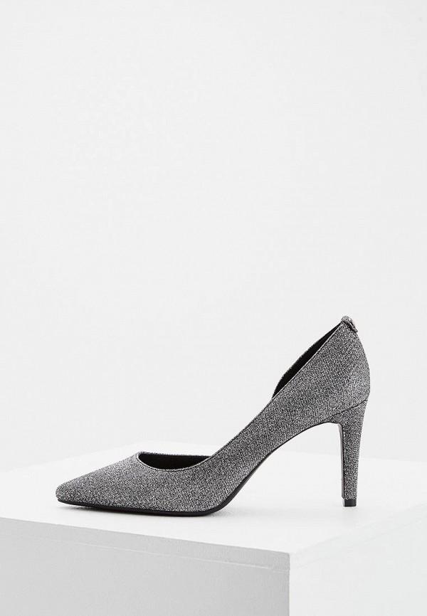 женские туфли michael kors, серебряные