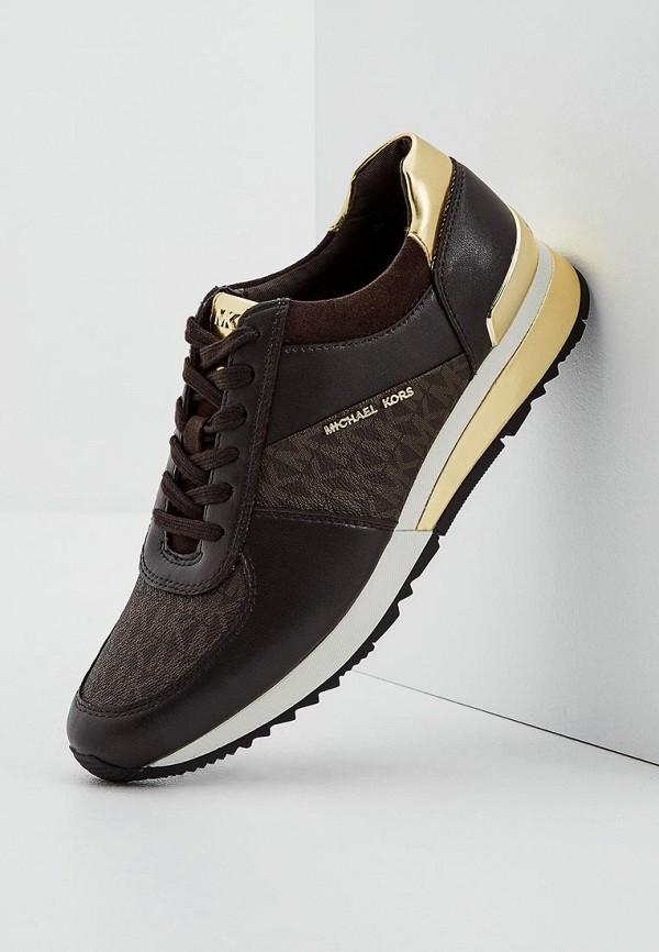 Фото 5 - женские кроссовки Michael Michael Kors коричневого цвета