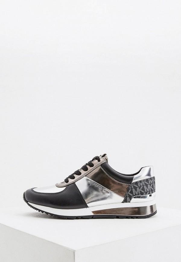 женские кроссовки michael kors, серебряные