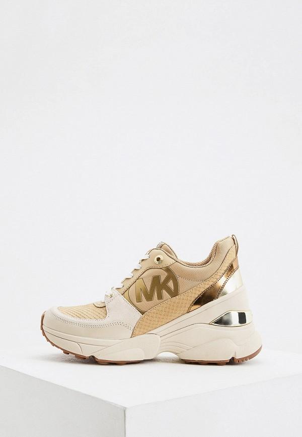 женские кроссовки michael kors, бежевые