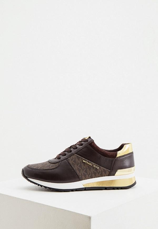 женские низкие кроссовки michael kors, коричневые