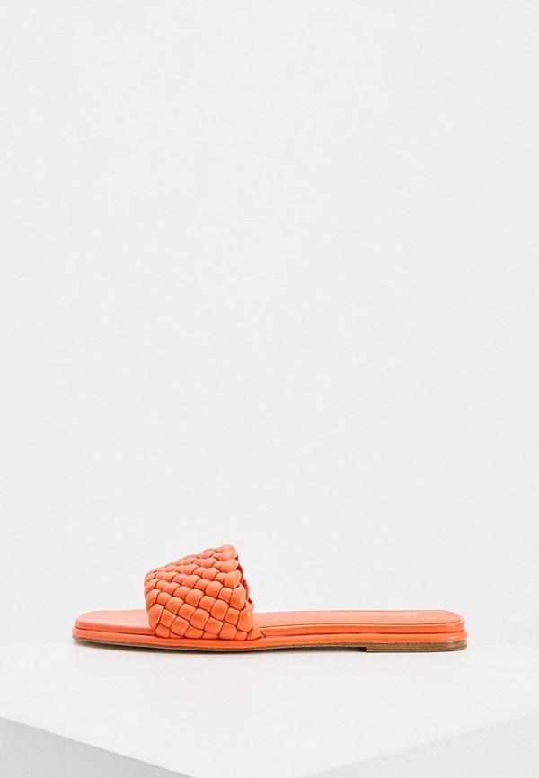 женское сабо michael kors, оранжевое