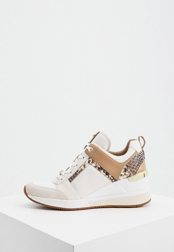 женские низкие кроссовки michael kors, бежевые
