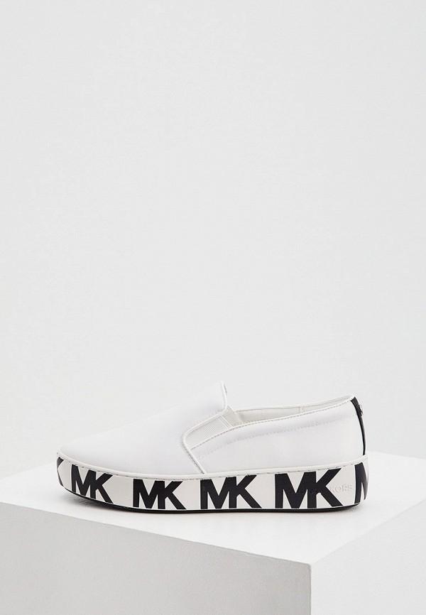женские низкие слипоны michael kors, белые