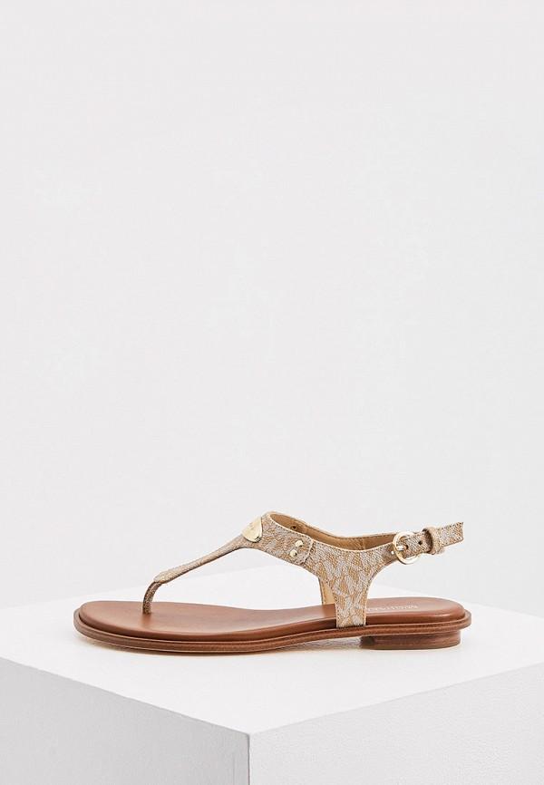 женские сандалии michael kors, коричневые