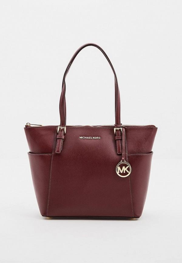 женская сумка michael kors, бордовая