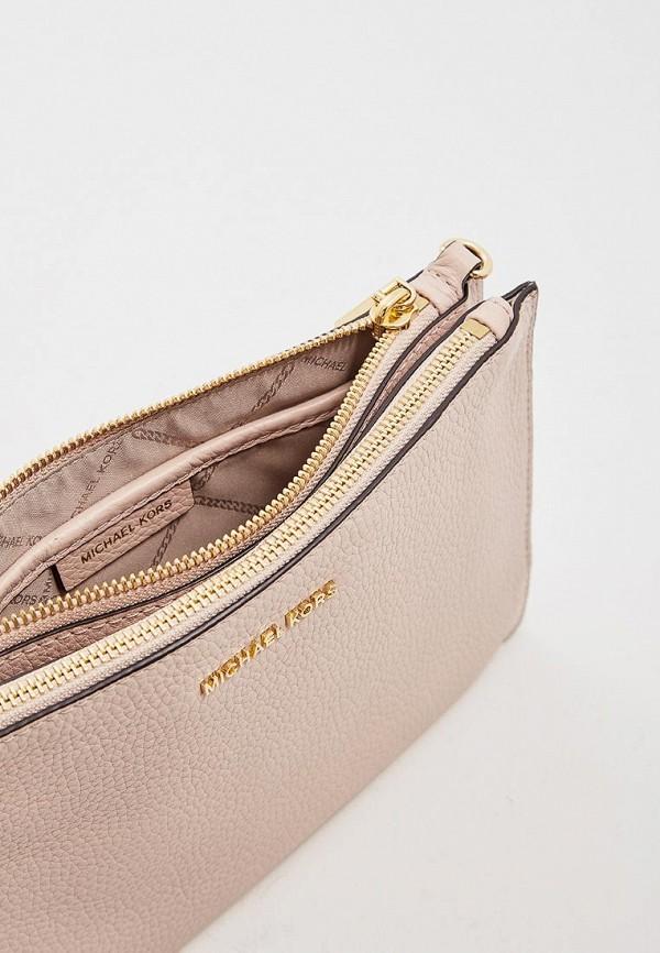 Фото 4 - женскую сумку Michael Michael Kors розового цвета