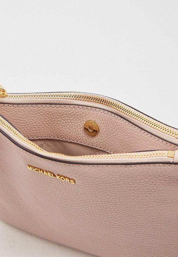 Фото 5 - женскую сумку Michael Michael Kors розового цвета