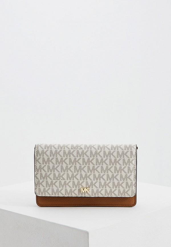Купить женскую сумку Michael Michael Kors бежевого цвета